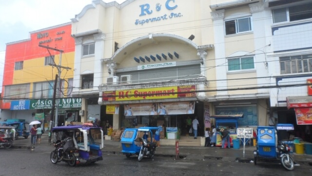 R & C Supermarket where one can take a tricycle going to the Bakhawan Eco-Park.