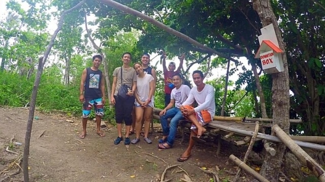 Our tour guides / habal-habal drivers in the island. Photo grabbed from Paula's Facebook.