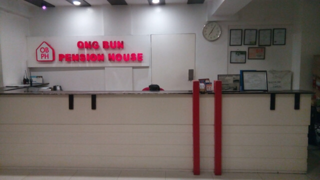 Ong Bun Pension House front desk.
