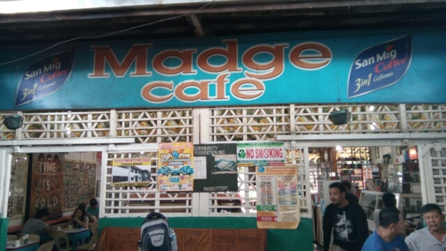 Madge Cafe inside La Paz Public Market.