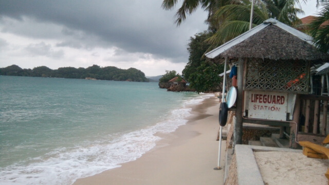 The beach at Raymen Beach Resort.