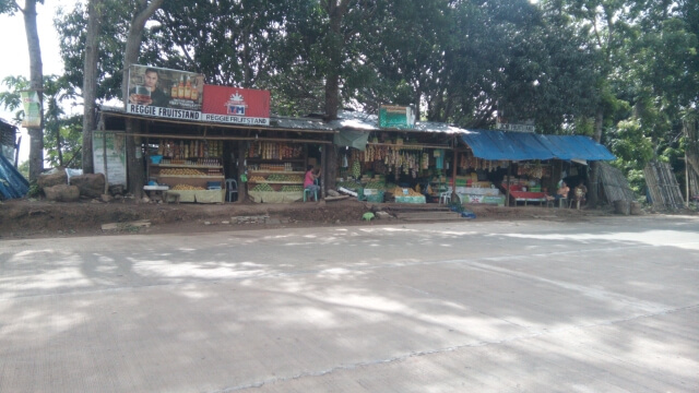 Fruit stands along the road located near the provincial capitol.