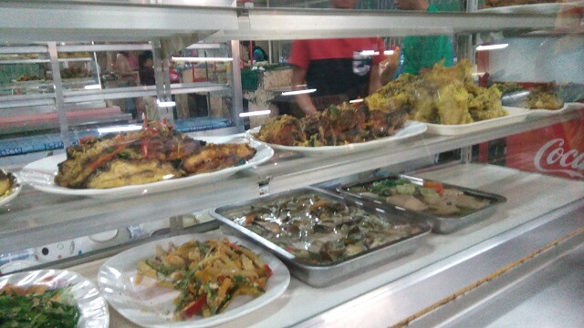 Halal foods being offered in one of the eateries in Cogon Market. Halal food are prepared based on Islamic Law, as defined in the Koran.