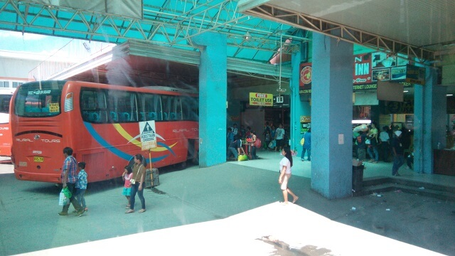 Inside the Agora Bus Terminal.