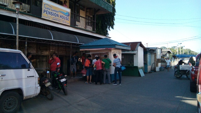 Ticketing booths just outside the Balingoan Port.