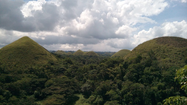 Chocolate Hills taken from the Chocolate Hills Complex.