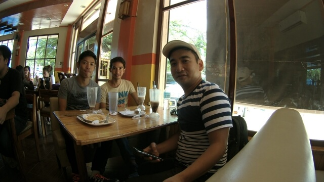 With couch surfer friends, Joshua and Jerson.