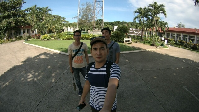 Jerson, I and Joshua at the Crocodile Farm while waiting for our guided tour in the park.