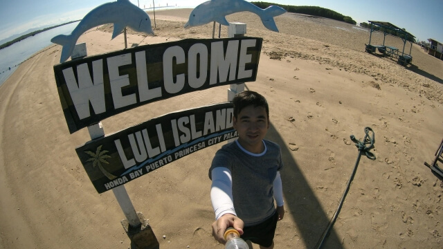 The Luli Island from the first syllables of lulubog and lilitaw words. The island submerges in water during high tide and surfaces during low tide.
