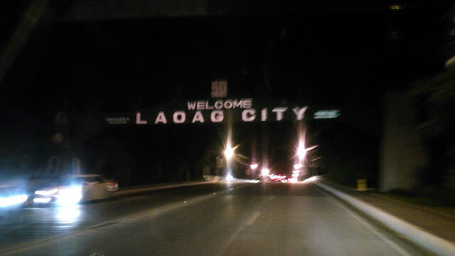 The arc for Laoag City, welcoming the visitors of the city.