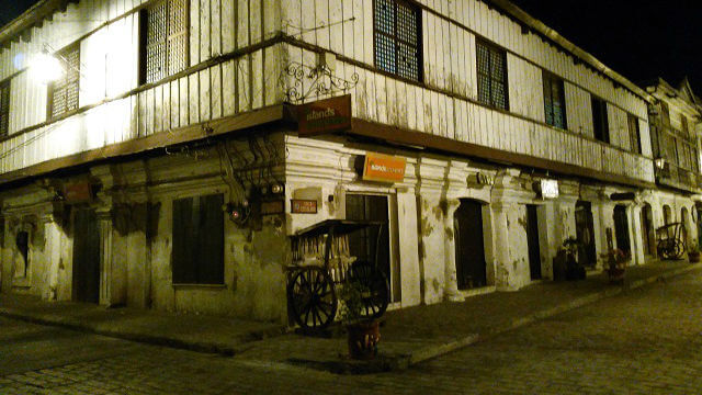 Calle Crisologo at early in the morning where Vigan Heritage Village is located.
