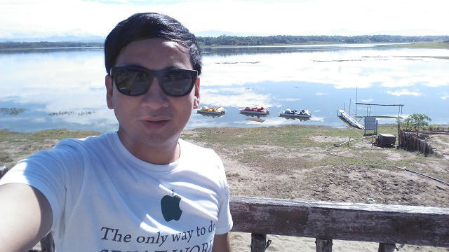 Selfie at Paoay Lake