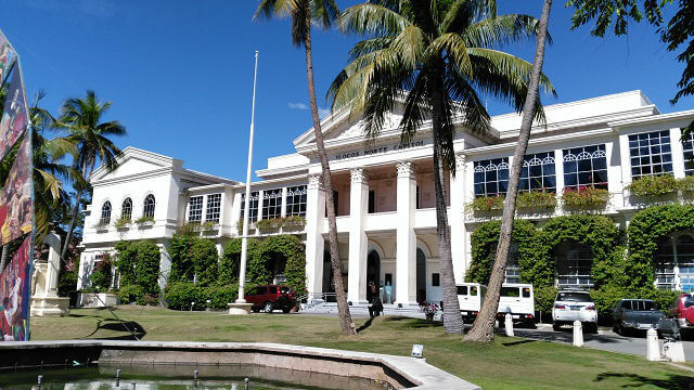The provincial capitol building at daytime.