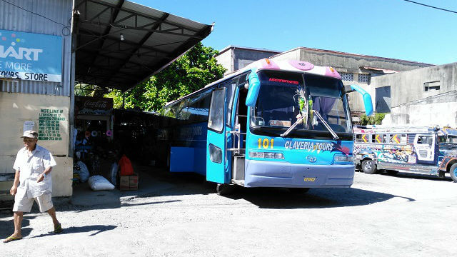 Claveria Tours bus terminal is located near PLDT and PLDT is located at the back of the provincial capitol building. Their phone number is (+63-78) 866-1129. Their last trip in Laoag is 6:00PM while in Claveria it is 1:30PM.