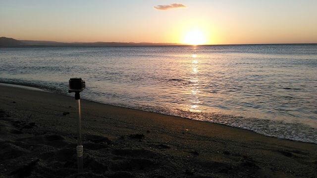 Sunset in Saud Beach, Pagudpud while recording it in time-lapse mode.