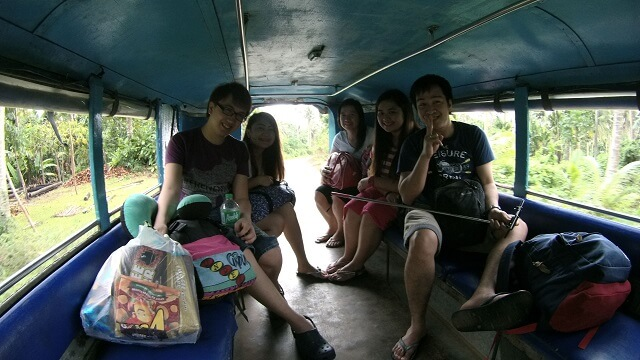 A group from Manila who went to Camarines Sur for Caramoan who ended up in White Pebble Beach because of unfavorable weather condition. (L-R) Jerome, Ariane, Kristine, Reza and Michael.