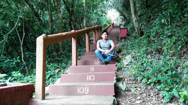 Stairway to Callao Cave.