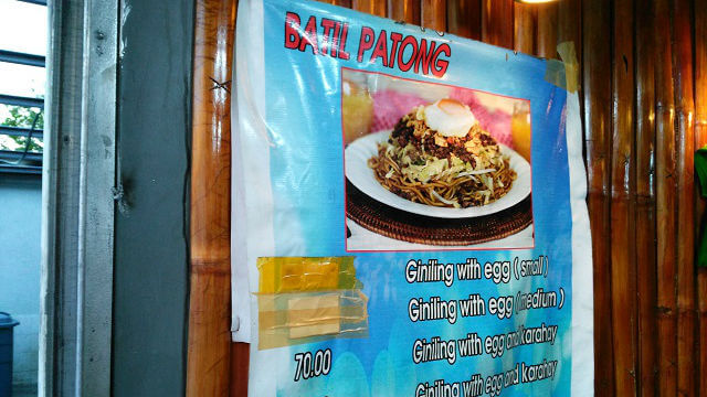 Pancit Batil Patong Expection.