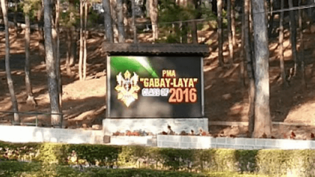 "PMA ""Gabay-Laya"" Class 2016 Banner near the main entrance in Philippine Military Academy (PMA)."