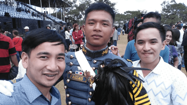 Groupie with 2nd Lt. Joseph Stalin Fagsao and Joe Mar Eloja after the graduation ceremony.