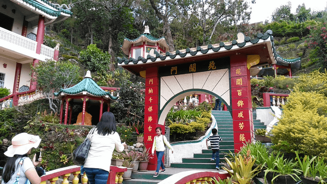 A Chinese-inspired structure at the Bell Church.