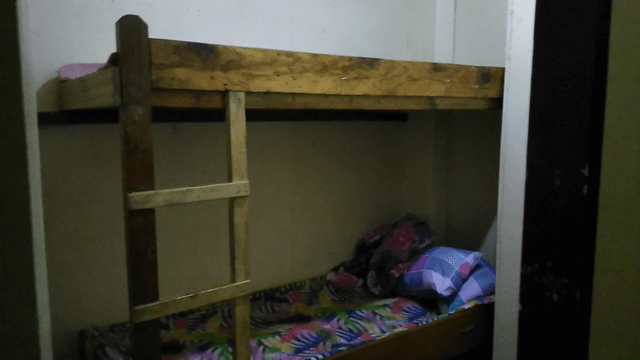 Single bunk bed good for two persons.
