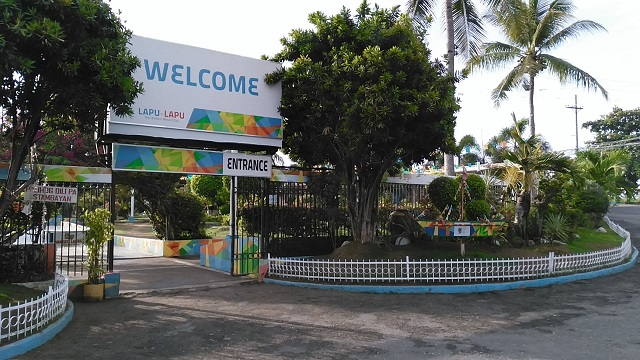 Mactan Shrine entrance. It is located along the main road.