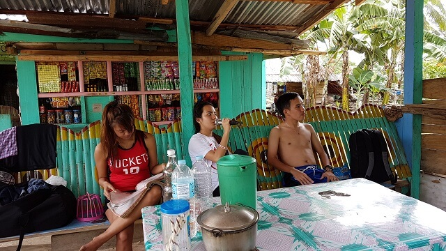 Videoke (Video Karaoke) time while waiting for lunch to be served and the 4 habal-habal that will bring us to Hagimit Falls.