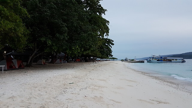 Isla Reta Beach Resort. This is the most accessible beach resort in Talicud Island because it is located about 500 meters away from the Talicud Port and other motor vanca dock on this resort directly. The beach itself is well maintain. The only problem I that they do not have fresh water for bathing. They have deep well but the water is still salty. You can buy 5-gallon purified water outside the resort but it costs Php60.00 and you need to make a Php300.00 deposit for the container. Plus, you need to carry it yourself to the resort. They do not offer delivery.