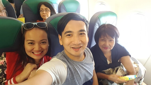 On board at Cebu Pacific flight